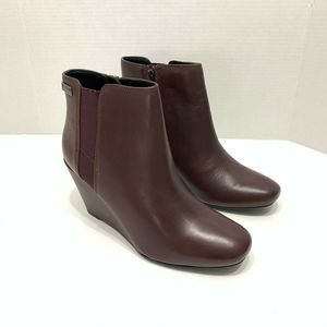 Kenneth Cole Marcy Ankle Boot Burgundy Size 10 Med